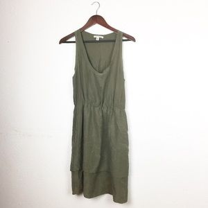 Banana Republic 100% Silk Tiered Racerback Dress